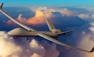 Le Protector reprend la formule aérodynamique du Reaper, avec une voilure élargie et renforcée pour emporter plus de carburant et de charges externes. © Dessin General Atomics