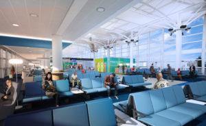 La future salle d'embarquement au coeur de l'aéroport de Marseille restructuré. ©AMP
