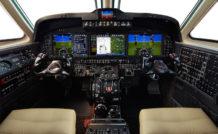 Le cockpit du Textron Beechcraft King Air C-90GTx équipé de la nouvelle suite avionique Rockwell Collins Fusion. © Textron Aviation