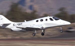 Le premier vol du Stratos 714 a eu lieu à Redmond, dans l'Oregon. © Stratos Aircraft