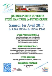 JPO du Lycée polyvalent des métiers de l'aéronautique Jean Taris @ Lycée Polyvalent Jean Taris | Peyrehorade | Nouvelle-Aquitaine | France