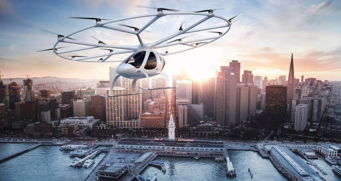 eVTOL, le taxi volant autonome Volocopter-1100x585