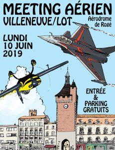 Villeneuv'Air Show 2019 @ Aérodrome de Rogé 47300 Villeneuve sur Lot
